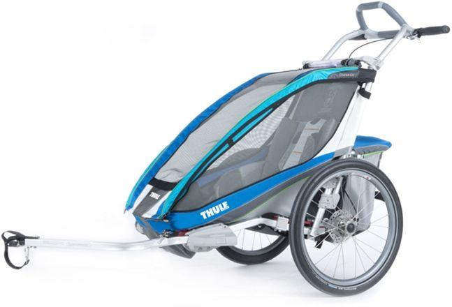 Thule Chariot CX1 Blue 2014 inkl. Cykelkit