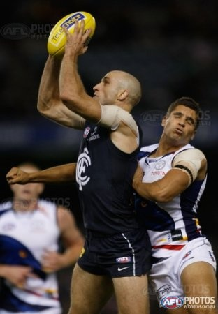 Chris Judd,Carlton from AFL 2012 Rd 08 - Carlton v Adelaide