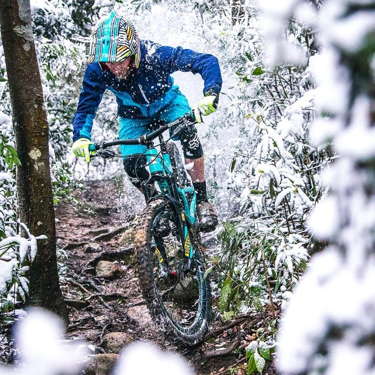 """""""Welcome to the jungle?  It's snowing in #Taipei for the first time in like 30 years.  #TaipeiMTB"""" Mountain biking mtb bike"""