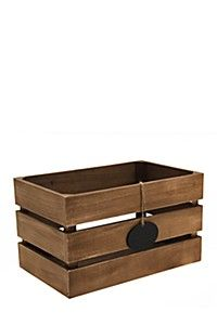 SMALL SLATTED NOTE CRATE