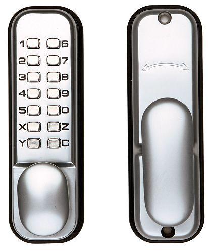 Briton Digital Lock With Snib 60mm Backset Satin Chrome - access control - digital locks - Digital Lock with Snib 60mm Backset Satin Chrome - Timber, Tool and Hardware Merchants established in 1933