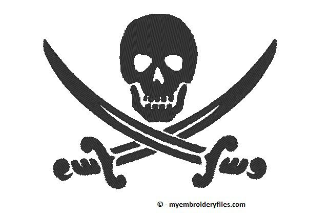 Calico Jack pirate flag | My Embroidery Files