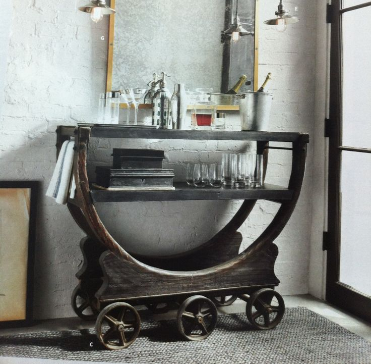 Restoration Hardware Bar Cart Beer Pinterest