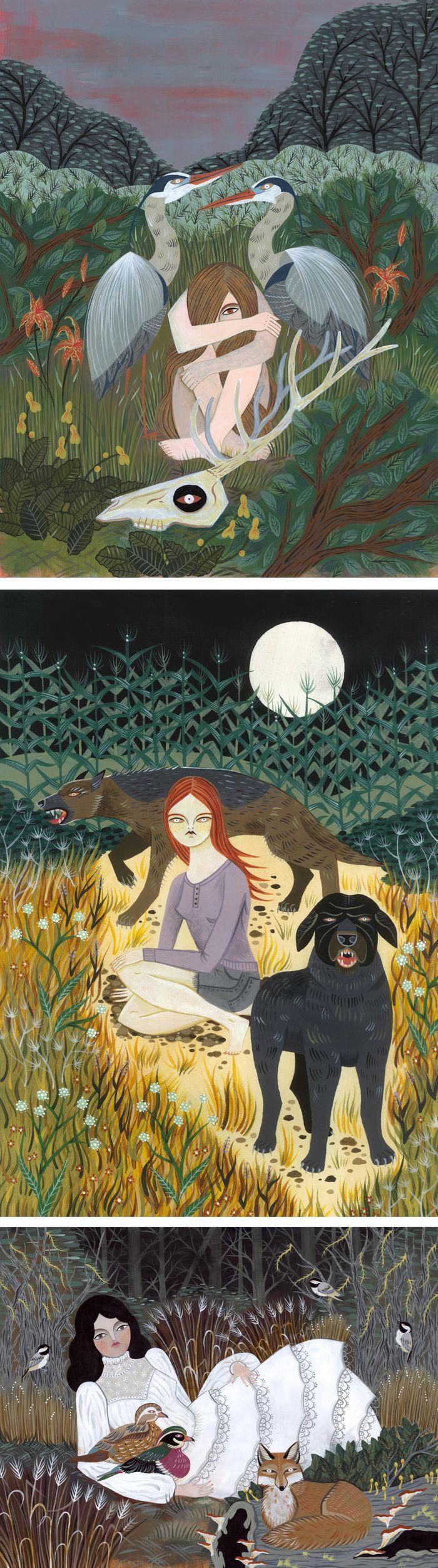 Magical Illustrations by Lisa Vanin // folklore illustrations
