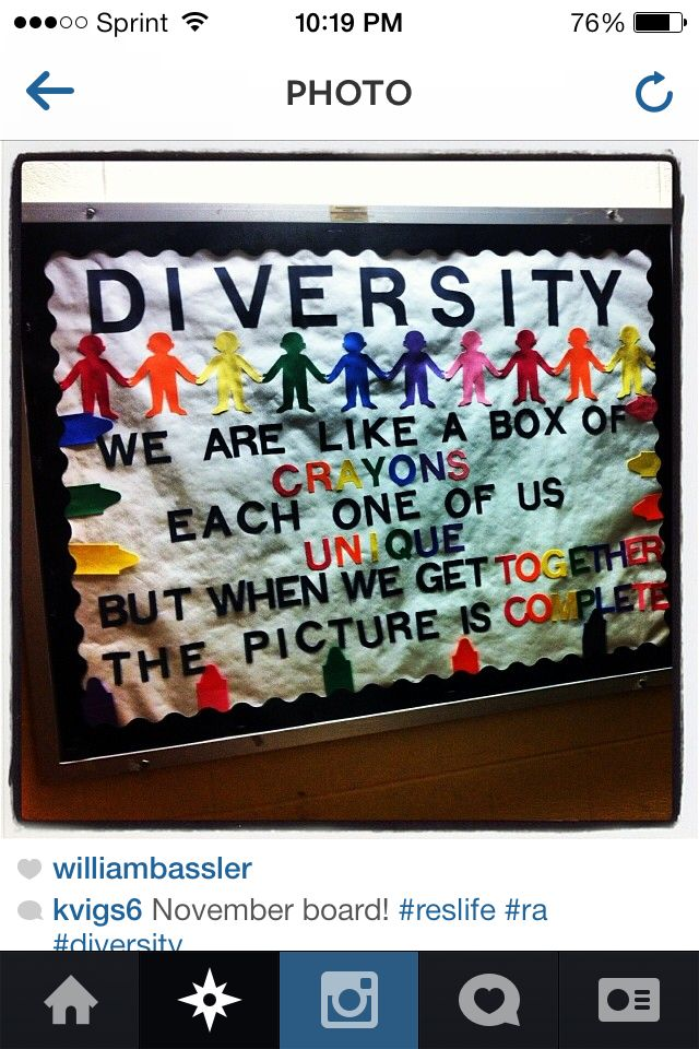 Ra bulletin board on diversity