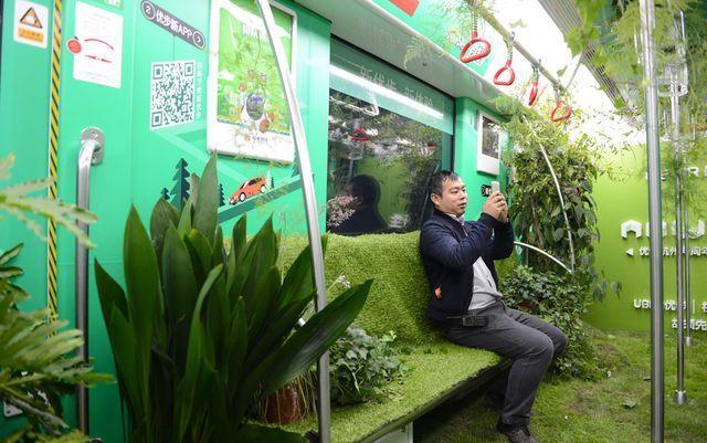 Çin metrosundan ilginç görüntüler içine bahçe kurdular.