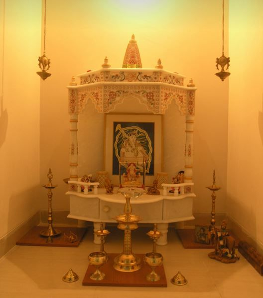 Contemporary Minimalist And Simple Deity Space Mandir: 163 Best Images About Puja Room On Pinterest
