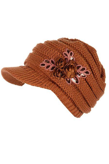 CC beanie knitted brim hat  ** wholesale