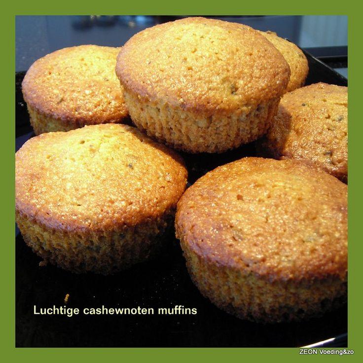 Luchtige cashewnoten muffins