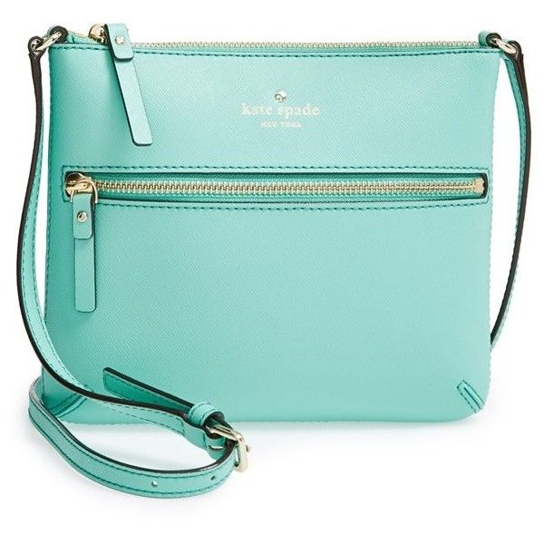 kate spade new york 'cedar street - tenley' crossbody bag ($178) ❤ liked on Polyvore featuring bags, handbags, shoulder bags, purses, crossbody bags, fresh air, leather crossbody, crossbody purse, blue leather purse and kate spade crossbody