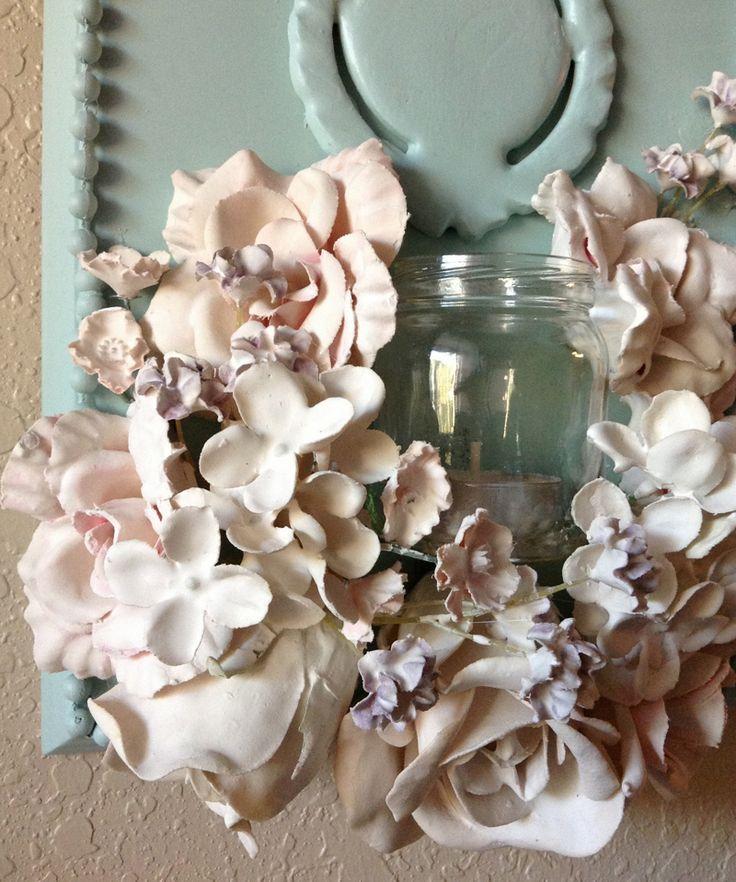 DIY Plaster Dipped Flower Votives DesignRulz.com
