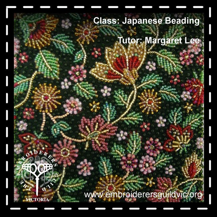 ML31   JAPANESE BEADING                Skill level: All levels welcome                Kit cost: (payable to tutor) $95.00  Member: $133.00 Non-member: $182.50  Dates: Wednesday 3 to Friday 5 May, 2017   Time: 10.00am- 3.00pm Tutor: Margaret Lee