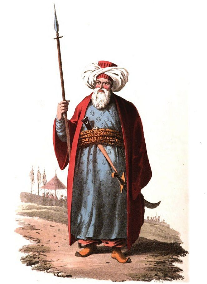 Ottoman mamluke officer, brought when young into the country as a slave he could eventually rise through the ranks and perhaps become a Bey. The Porte Ottoman central government) tried to restore its authority in Egypt, by reducing the power of the Beys and Mamelukes. The Pacha sent Albanian soldiers to Grand Cairo having in 1811 already made use of the latter in surprising and putting to death a large body of the Mamlukes and subsequently given orders for the destruction of the rest.