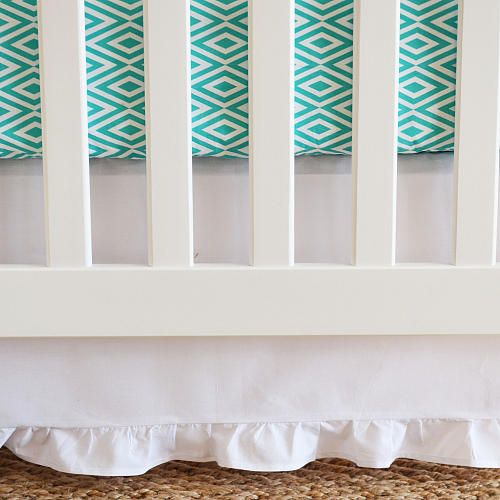 "Oliver B Pure White Crib Skirt with Gathered Trim - Oliver B - Babies ""R"" Us"