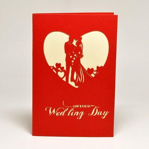 Ах эта свадьба, не знаете, что дарить на очередное бракосочетание? Можно начать с малого.  Объемная открытка 3D С Днем Свадьбы (Сердце) https://razverni.com/~uPMSl