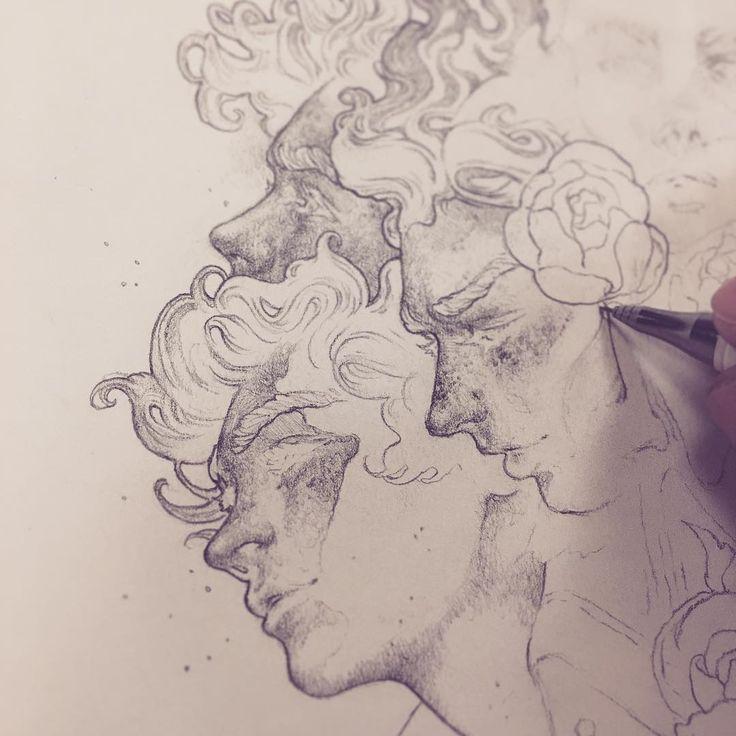 "Tim Von Rueden (@vonnart) via Instagram: ""Work in progress drawing from today's haüs art jam. Just having fun late in the night drawing some…"""