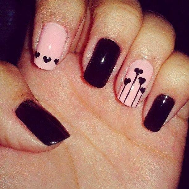 Black&Pink Nails