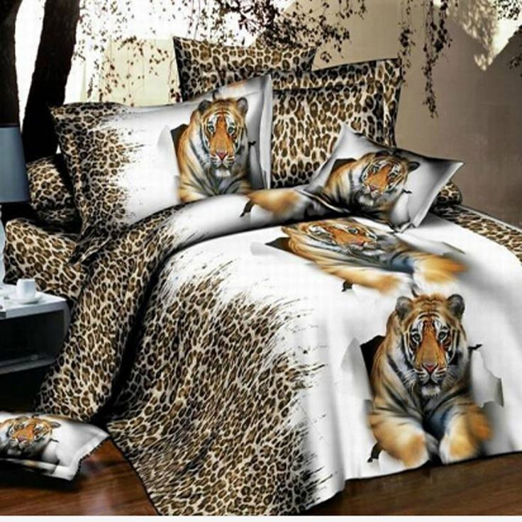==> [Free Shipping] Buy Best 3D Animal Duvet Cover Tiger Bedding Sets Double Bed Linen Bed Sheet Sets King Size Bedspread Online with LOWEST Price | 32664788422