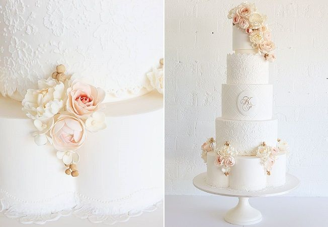 petal shaped wedding cake tier by Sweet Bloom, Australia