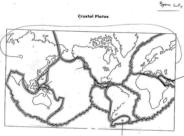 Blank Plate Tectonics Map Science Printables Pinterest