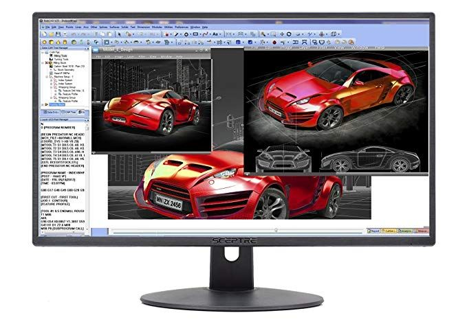 """Sceptre E205W-1600 20/"""" 75Hz Ultra Thin LED Monitor HDMI VGA Build-in Speakers"""