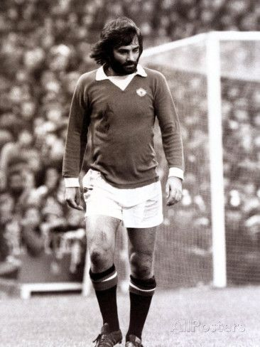 George Best of Manchester United in Action Against Tottenham Hotspur November 1973 Photographic Print - AllPosters.co.uk