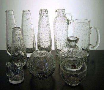 Detailed image of On hold - Bengt Orup art glass set of 10 pieces (+ bonus piece) for Johansfors