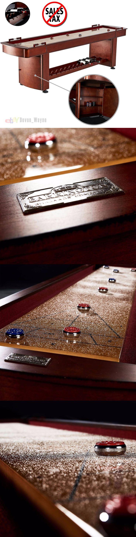 Shuffleboard 79777: Barrington 9 Classic Wood Shuffleboard Game Room Hidden Cabinets Wine Rack New -> BUY IT NOW ONLY: $578.97 on eBay!