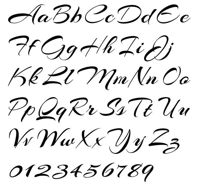 Joined Cursive Fonts