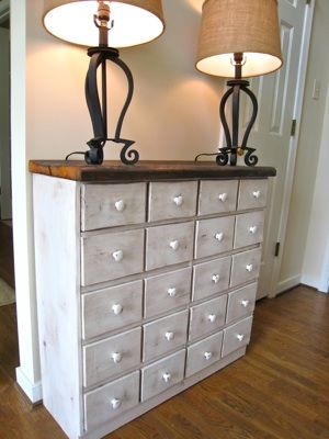 Apothecary Console Table from Pallets | Do It Yourself Home Projects from Ana White