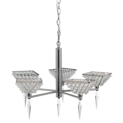 GEN-LITE | Galaria 5 Light Ceiling Fixture with Clear Crystals Chrome Finish | Home Depot Canada