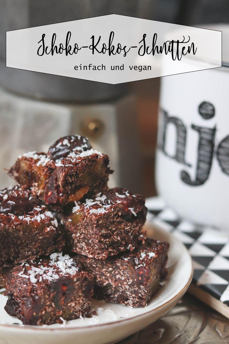 Kokos-Schoko-Schnitten- vegan und einfach