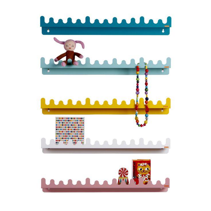 Shelf / Hooks . Doodle Drop - Colour Options