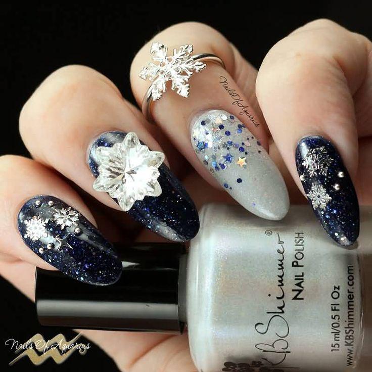 9 best Winter Nail Art images on Pinterest   Winter nail art, Winter ...