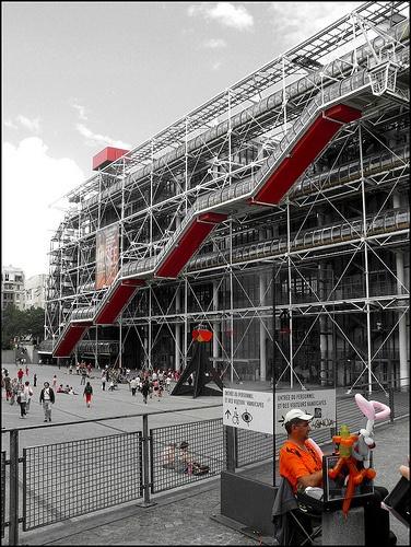 Centre Pompidou. Paris, France. Richard Rogers Architects. 1977