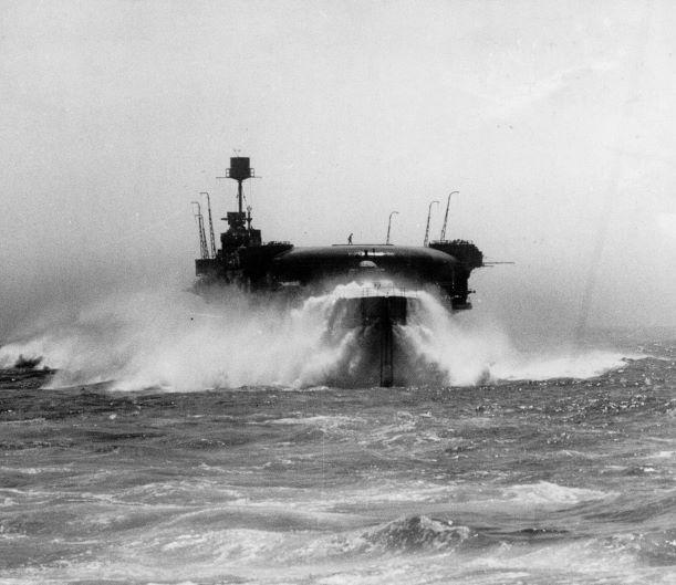 HMS Furious in a heavy sea