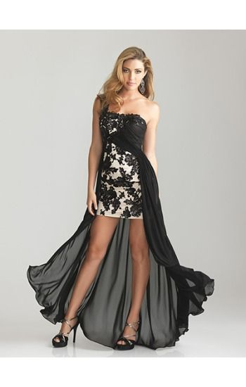 rock n' roll white with black lace wedding dress for second marriage