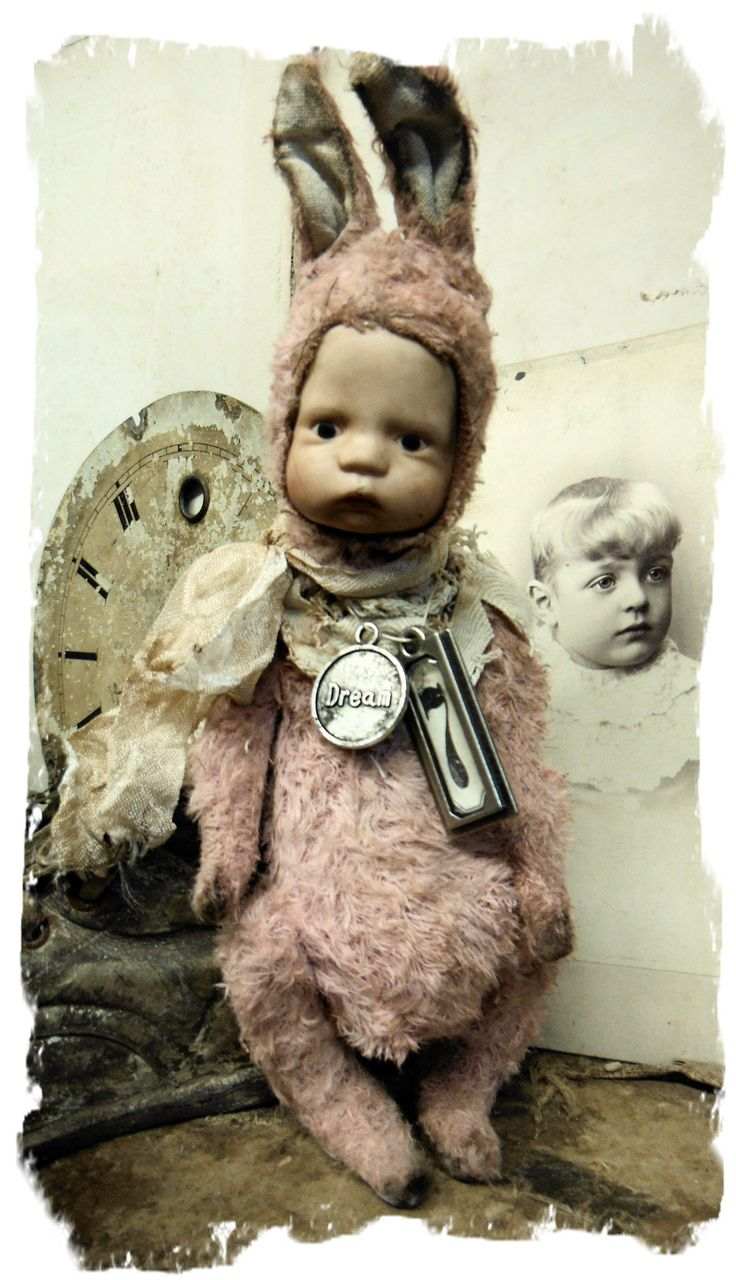 "Limited Edition  - 1 of 2 (I only have 2 of these vintage dolly heads)""DREAM"