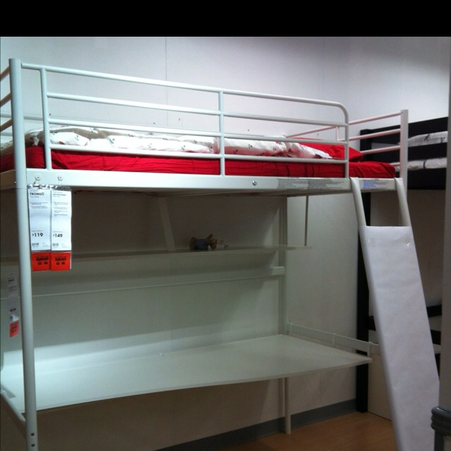 ikea tromso loft bed ikea troms 246 loft bed just slide his desk and bookshelf 15623