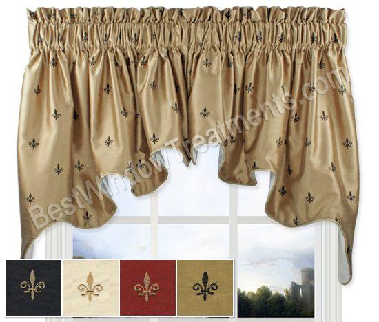 Fleur De Lis Duchess Swag Window Topper. Kitchen CurtainsKitchen ...