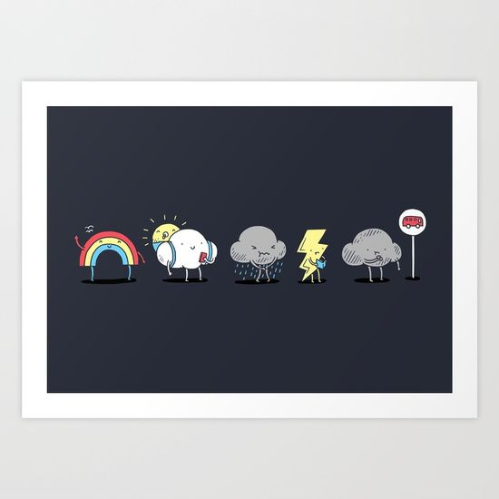 There's always rainbow after the rain Art Print by I Love Doodle. Worldwide shipping available at Society6.com. Just one of millions of high quality products available.