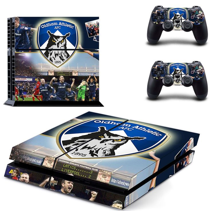 Oldham athletic AFC ps4 skin decal for console and 2 controllers