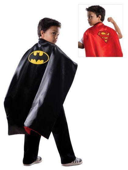 Batman/Superman Reversible Cape Costume | Cheap Superhero Costumes for Boys
