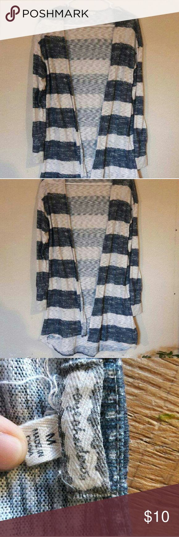 Striped cardigan It's a blue and white cardigan Sweaters Cardigans
