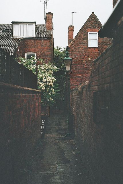 UK alley- I've walked down allies like this in london and they use to give me the creeps, you never know who's gonna be lurking in there.