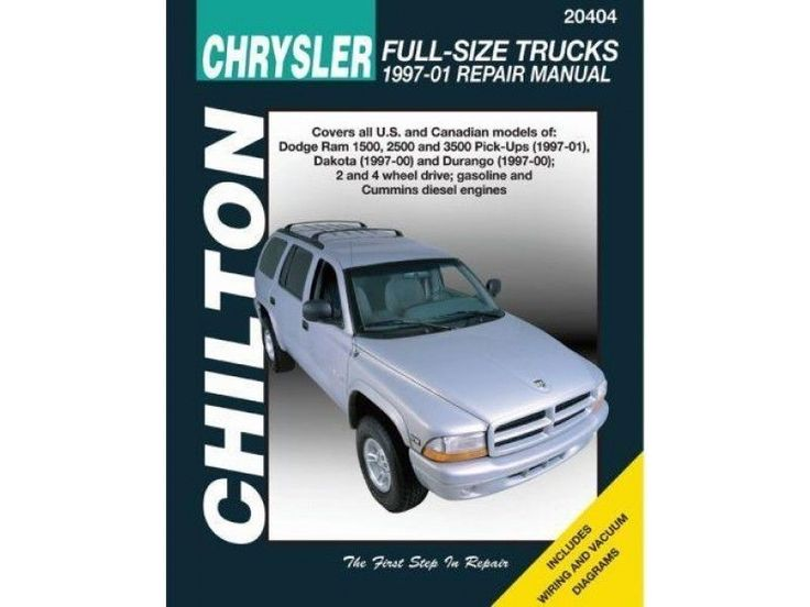 Repair Manual Chilton 20404 Fits 97