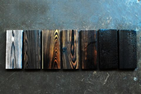 Shou Sugi Ban - the Japanese technique of charring wood.