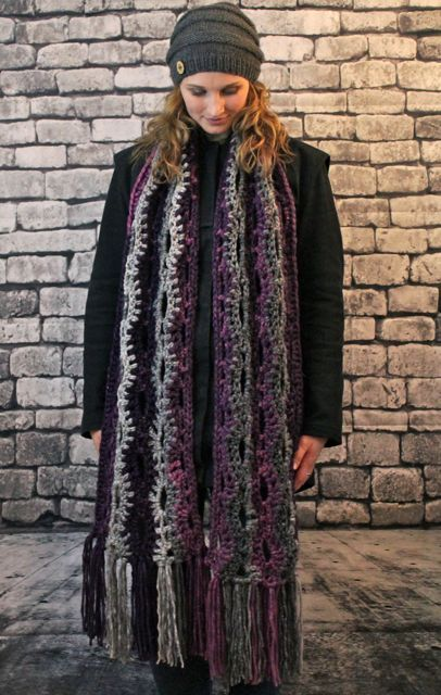 Super scarf with fringe.  #handmade #superscarf #winterfashion
