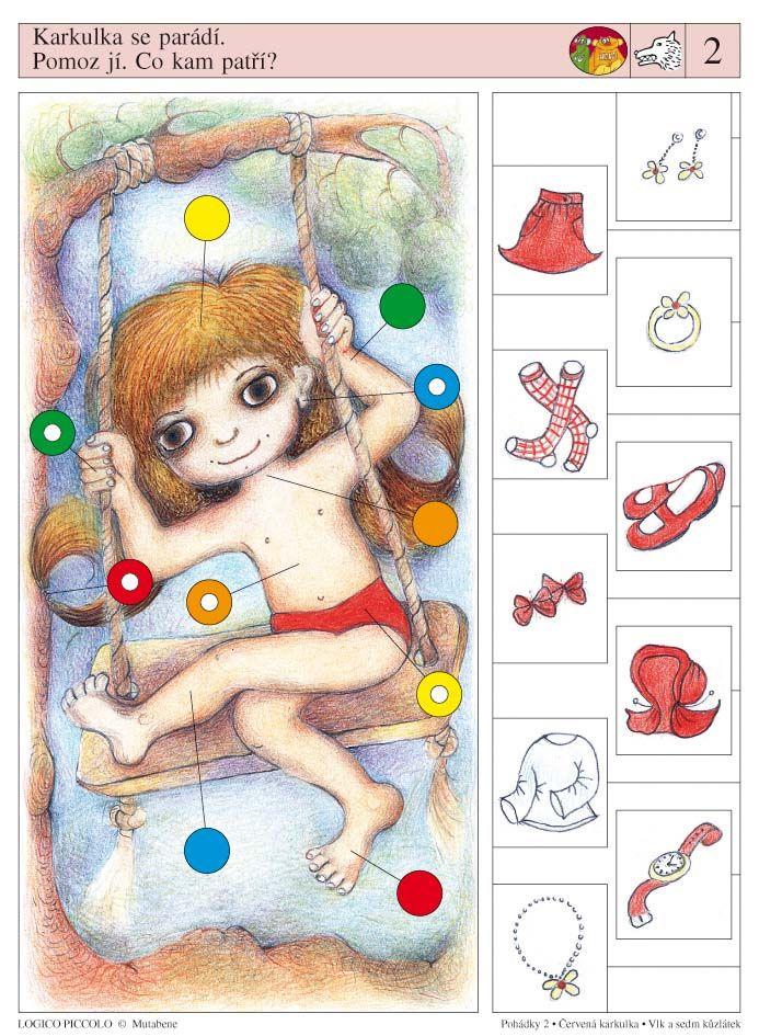 LOGICO PICCOLO | Pohádky | Pohádky - Karkulka - Vlk a sedm kůzlátek | Didaktické pomůcky a hračky - AMOSEK