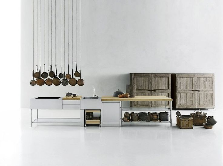 Stainless steel kitchen / outdoor kitchen OPEN - Boffi